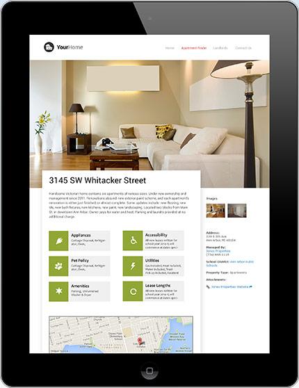 custom apartment rental listings website integration rentlinx. Black Bedroom Furniture Sets. Home Design Ideas